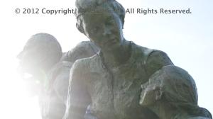 Artist: Sergio Comacchio Free-standing sculpture, bronze, 2000. Il Giardino, Vancouver